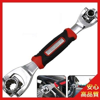 ソケットレンチスパナ360度マルチヘッド8-19mmスプラインボルトトルクス手DIYツール