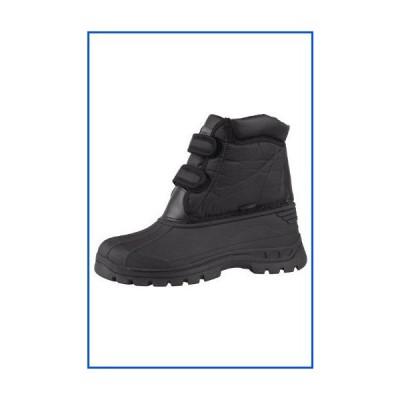 【新品】Mountain Warehouse Grit Womens Short Muck Boots -Easy Clean Rain Shoe Black Womens Shoe Size 10 US【並行輸入品】
