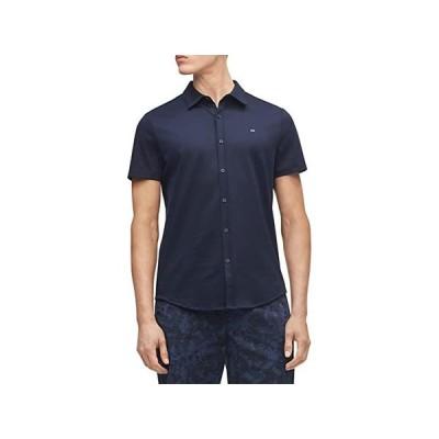 カルバン・クライン Short Sleeve Liquid Touch Button-Up Polo Shirt メンズ Shirts & Tops Sky Captain