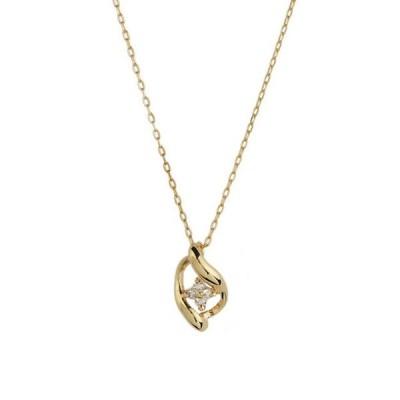 ネックレス レディース ダイヤモンド シンプル 10金 イエローゴールド 10k K10 ESTELLE エステール ギフト 普段使い