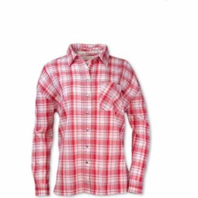 パーネル Purnell レディース ブラウス・シャツ トップス Boyfriend Shirt Red