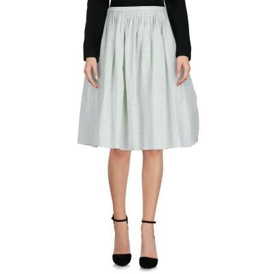 THIERRY COLSON ひざ丈スカート ライトグリーン S コットン 100% ひざ丈スカート