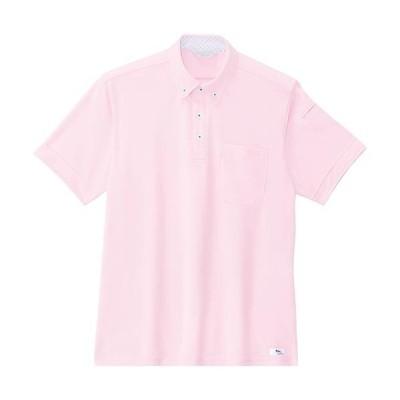 ジーベック(XEBEC) クールビズ半袖ポロシャツ 75/ピンク 6180 作業服 作業着 ワークウエア ワークウェア メンズ レディース