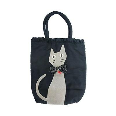 noa family ノアファミリー 手提げ バッグ 猫 ねこ黒 フリル