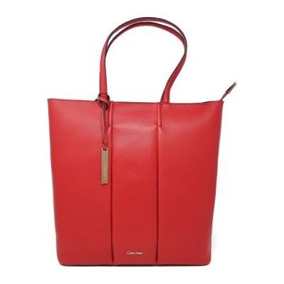 鞄 トートバッグ レディース カルバンクライン(Calvin Klein) レザー 無地 39×36×13cm レッド色 BCK60K603895618