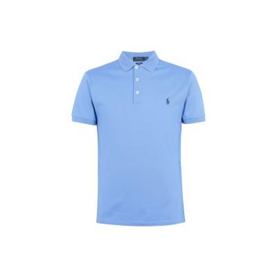 POLO RALPH LAUREN ポロシャツ スカイブルー XS コットン 97% / ポリウレタン 3% ポロシャツ