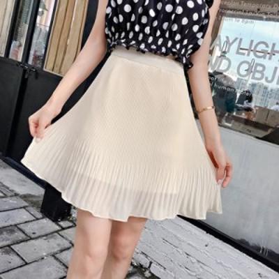 シフォンフレアスカート フレアスカート ギャザースカート シフォンスカート ショートスカート スカート ショート丈 ゆったり