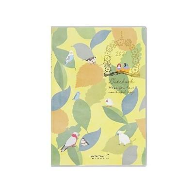 ミドリ ポケットダイアリー 手帳 2021年 ミニ マンスリー トリ柄 22008006 (2020年 10月始まり)