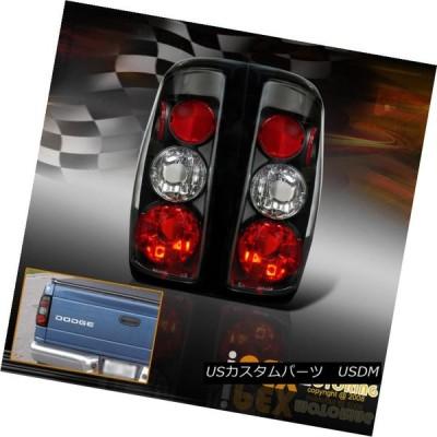 テールライト ファーストNフリーブランドの新しいペア1997-2004ダッジダコタブラックテールライトランプ Fast-N-Free Brand Ne