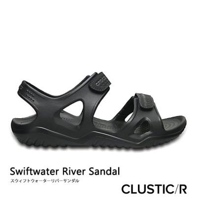 ・クロックス《メンズ》スイフトウォーター リバー サンダル/ブラックxブラック/ CROCS/Swiftwater River Sandal/BlackxBlack #