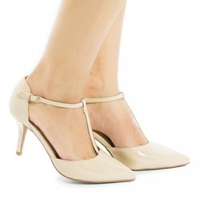 シティークラッシフィード レディース パンプス Bahia D'orsay T-Strap Stiletto Heel Dress Sandal