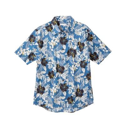 総柄プリントアロハシャツ(花柄) カジュアルシャツ, Shirts,