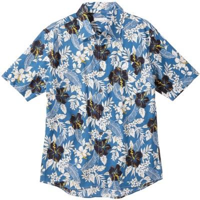総柄プリントアロハシャツ(花柄) カジュアルシャツ, Shirts, テレワーク, 在宅, リモート