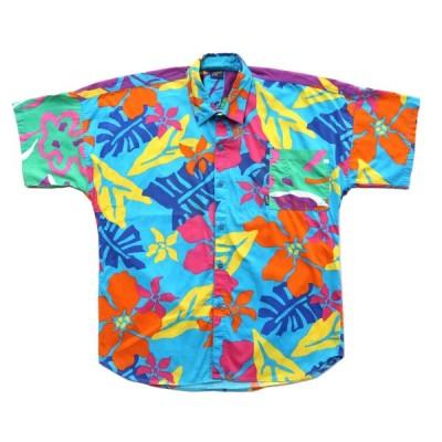 USA製 アロハシャツ 総柄 サイズ表記:L