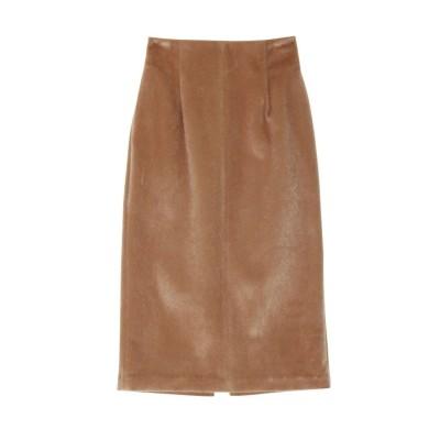LAGUNAMOON シャギータイトスカート(ブラウン)