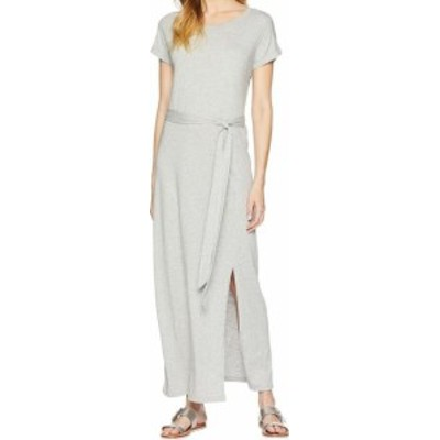 Sanctuary サンクチュアリ ファッション ドレス Sanctuary NEW Gray Womens Size Medium M Belted Short Sleeve Maxi Dress