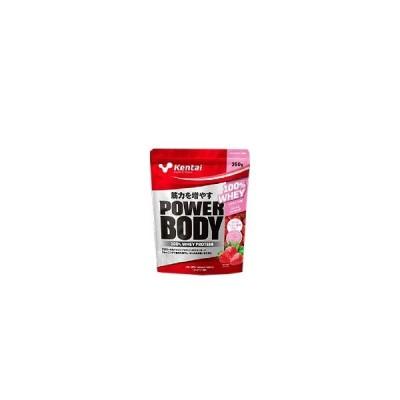 パワーボディ 100%ホエイプロテイン ストロベリー風味 350g
