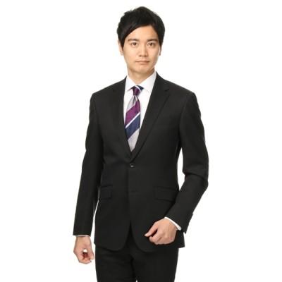 スタイリッシュスーツ【ツーパンツ】【就活】【黒無地】