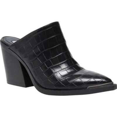 スティーブ マデン Steve Madden レディース サンダル・ミュール シューズ・靴 Alanna Block Heel Mule Black Croco Synthetic