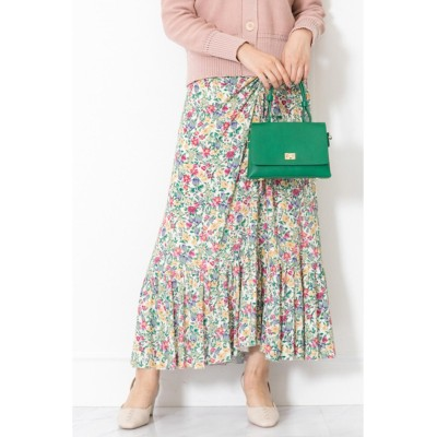 JILLSTUART ◆キャンディス小花柄ギャザースカート ホワイト 4