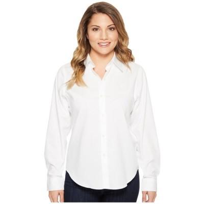 ラルフ ローレン LAUREN Ralph Lauren レディース ブラウス・シャツ トップス Petite Cotton Poplin Shirt White