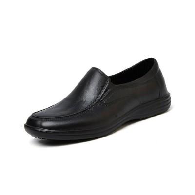 メンズ コックシューズ 厨房靴 ノンスリップ キッチンシューズ  耐衝撃 医療 工場 ホテル適用 作業靴 着脱簡単 ブラック