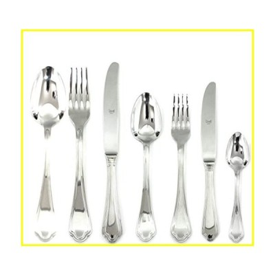 【新品】  Mepra Leonardo 42 Pcs Flatware Set with Hollow Handles ? Silver Tableware, Dishwasher Safe Cutlery  (並行輸入品)