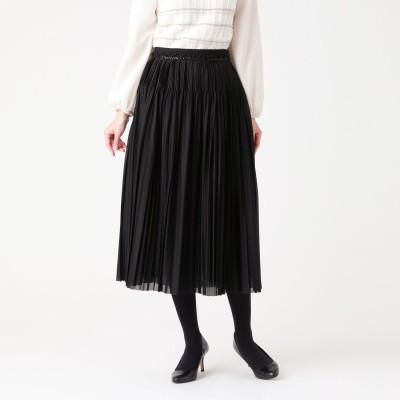 トゥー ビー シック TO BE CHIC ブレードコンビプリーツスカート (ブラック)