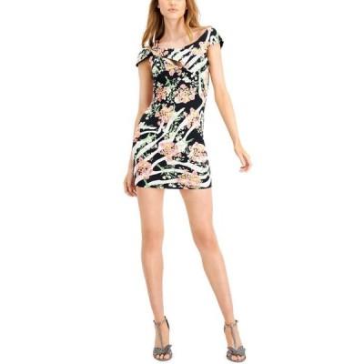 ゲス レディース ワンピース トップス Nyla Printed Cutout Dress