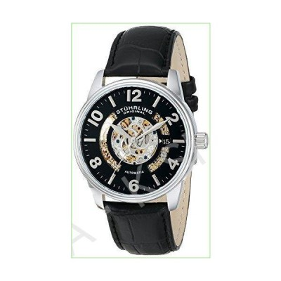Stuhrling Original Men's 649.01 Legacy Automatic Skeleton Date Black Leather Watch--並行輸入品--