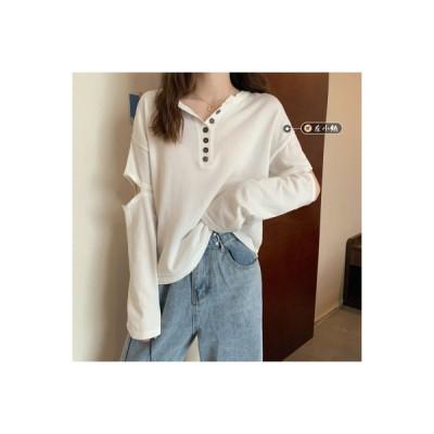 【送料無料】~ 韓国風 デザイン 感 ルース 何でも似合う 長袖 透かし編みニットトップ | 364331_A64679-3411884