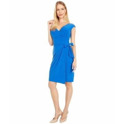 ラルフローレン ワンピース トップス レディース Saida Cap Sleeve Day Dress Potruguese Blue