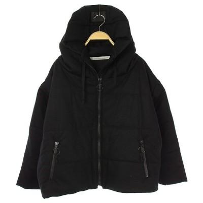【中古】ザ ビッグ スモーク COG THE BIG SMOKE PUFF Jacket 中綿 ブルゾン フード ジップアップ 黒 ブラック /ES ■OS レディース 【ベクトル 古着】
