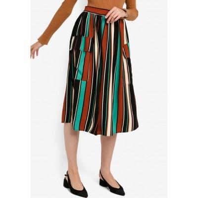 ザローラ ZALORA レディース ひざ丈スカート スカート Pocket Detail Midi Skirt Black/Multi