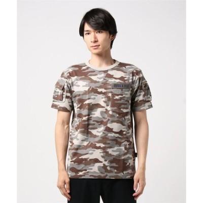 tシャツ Tシャツ avirex/アヴィレックス/メンズ/S/S CAMOUFLAGE FATIGUE T-SHIRT/半袖 迷彩 ファティーグ Tシ