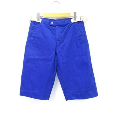 【中古】エカッション EQUATION PERSONNELLE コットン サイド ベルトデザイン ハーフパンツ 48 ブルー メンズ 【ベクトル 古着】