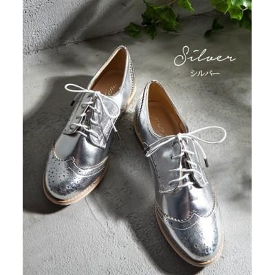 ウイングチップラウンドシューズ シューズ(フラットシューズ) Shoes