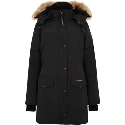 カナダグース Canada Goose レディース コート アウター Trillium Black Fur-Trimmed Parka Black