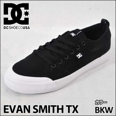 DC スニーカー ディーシー 【EVAN SMITH TX 】 エヴァンスミス 【Black/White 】 BKW