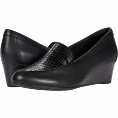 クラークス Clarks レディース ヒール シューズ・靴 Mallory Pearl Black Leather/Synthetic Combination