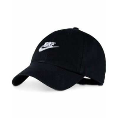 ナイキ メンズ 帽子 アクセサリー Sportswear Futura Twill Hat Black White