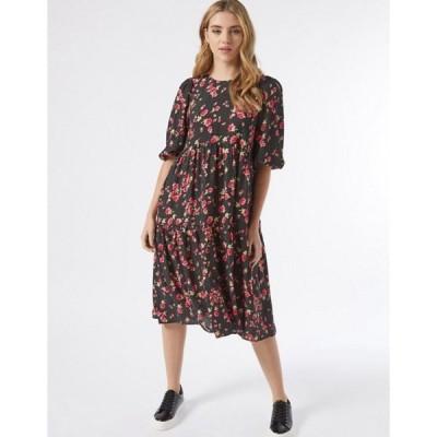 ミスセルフフリッジ レディース ワンピース トップス Miss Selfridge midi smock dress in black