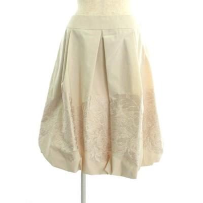 エムズグレイシー スカート フラワー刺繍 バルーン 花柄 40