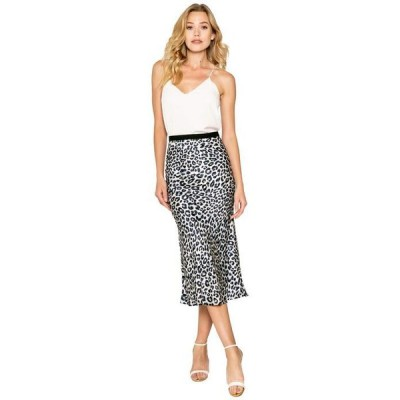 ラベンダーブラウン レディース スカート ボトムス Cheetah Printed Pull-On Bias Midi Skirt