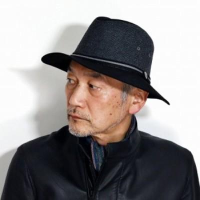DORFMAN PACIFIC 帽子 サファリハット 秋 冬 つば広 ハット メンズ ドーフマンパシフィック ダウン サハリハット 中折れ ウールブレンド