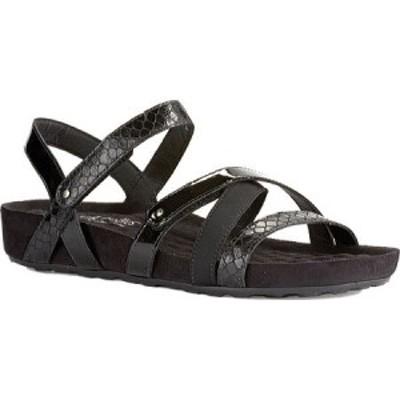 ウォーキング クレードル Walking Cradles レディース サンダル・ミュール シューズ・靴 Pool Strappy Sandal Black Textured Multi Leat