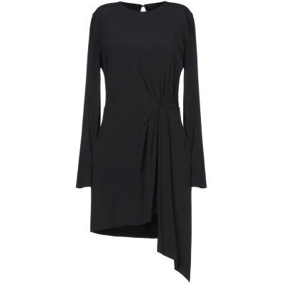 テッサ .TESSA ミニワンピース&ドレス ブラック 40 レーヨン 99% / ポリウレタン 1% ミニワンピース&ドレス