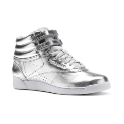 スニーカー リーボック [BS9944] Womens Reebok Classics Freestyle F/S HI Metallic Sneaker Silver