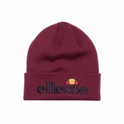エレッセ Ellesse ユニセックス ニット ビーニー 帽子 - Velly Burgundy - Beanie burgundy