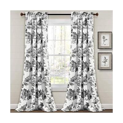Lush Decor French Country Toile Room Darkening Window Curtain Panel Pair, 9